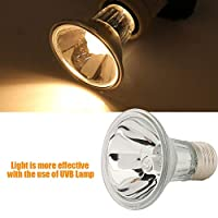 Full Spectrum Basking Lamp, 220V Concentrating Reflectors Halogen Bulb for Reptile Lizard Water Turtles Spiders Frogs(50W)