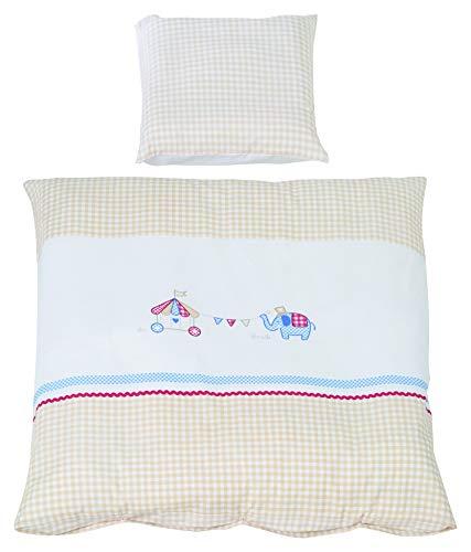 Roba 1490S170 Roba Parure de lit 2 pièces pour berceau avec housse de couette et taie d'oreiller 100% coton Multicolore