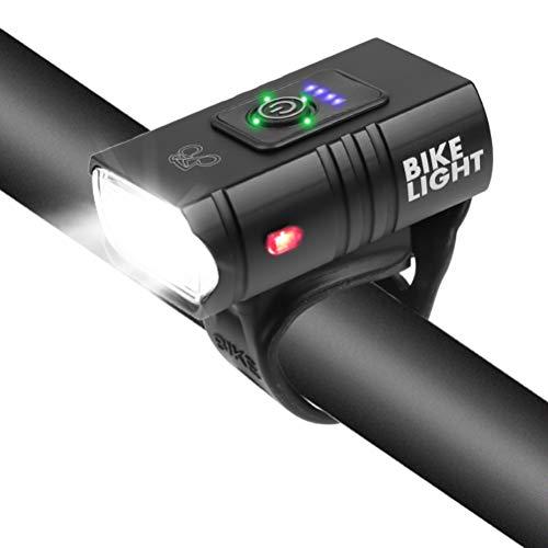 shenruifa Fahrrad Frontlicht USB Wiederaufladbare Fahrrad Scheinwerfer 2 LED IPX5 Wasserdicht 6 Lichtmodi Mountainbike Lichter Fahrrad Sicherheitswarnlicht