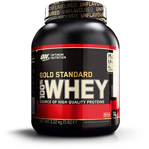 Optimum Nutrition 100% Whey Gold Standard, 5 lb Dose (Unflavoured)
