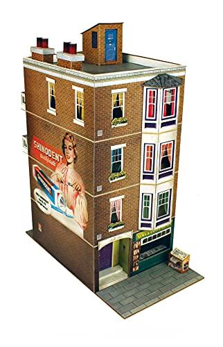 The CityBuilder Apartment Building Cardboard Model Making Kit - O Scale Model Railroad Building