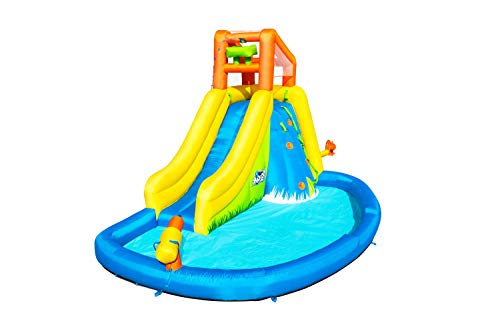 Denny Shop H2OGO Kids Inflatable Mega Water Park Bouncy Castle With Water Gun, Pool Water Slide by Crystals®