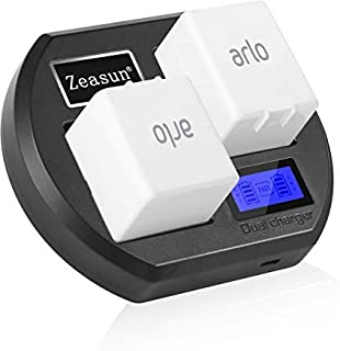 Camera Batteries Charger for Arlo Rechargable Batteries,Zeasun LCD Display Arlo Battery Charger Compatible with Arlo Pro, ...