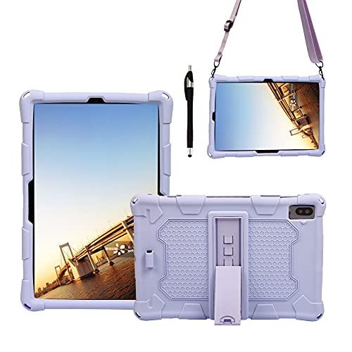 Tablets Duras Tablet Funda para Samsung Galaxy Tab S5E 10.5'T720 (2019), Cubierta Protectora a Prueba de Golpes de Silicona Suave y Ligera con Correa de asador y Hombro Tablets Fundas