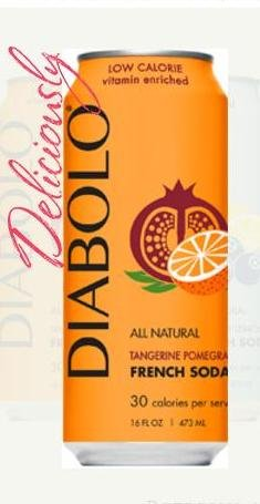 Diabolo Tangerine Pomegrante French Soda, 16 Ounce (Pack of 12)