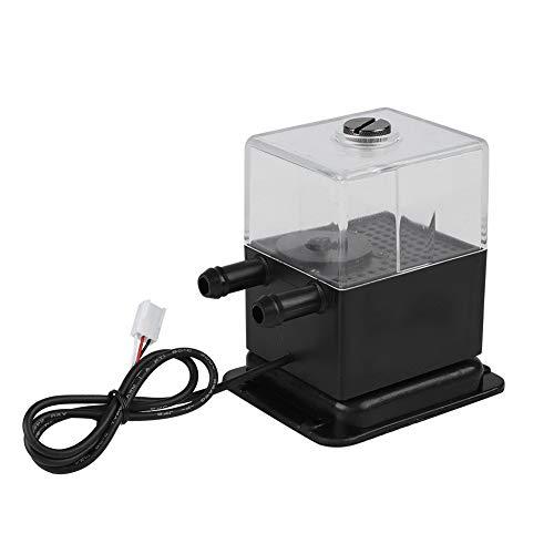 Juego de bomba de agua ultra silencioso, PC silencioso CPU Water Bump Sistema de refrigeración por agua Bomba con función de prueba de velocidad, para PC Sistema de refrigeración por agua
