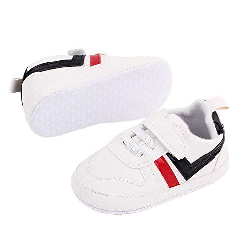Zapatillas de piel antideslizantes para bebés y niñas, para caminar, color Negro, talla 0-6 meses