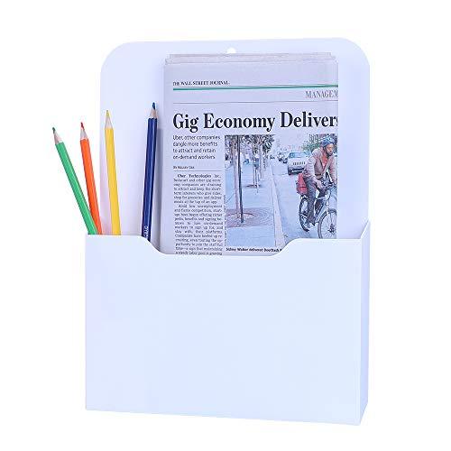 Antner Magnetic File Holder Letter Size Magnetic Paper Pencil Holder Office Supplies Mail Planner Storage Pocket for Whiteboard, Refrigerator, Locker