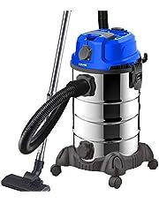 DMS® Industriële stofzuiger voor natte en droge stofzuigers | roestvrij staal 2300W + stopcontact | sterke zuigkracht | blaasfunctie | droog en nat zuigen | filterreinigingssysteem | grote inhoud (blauw)