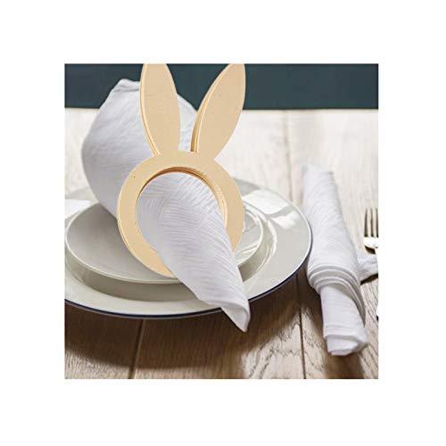 Guanghuansishe 10Pcs Osterhasen Ohr Serviettenringe Kaninchen Servietten Ringhalter Tischdekoration für Frühling Osterfeier Kaninchen Serviettenhalter Schnallen Ostern Serviettenring