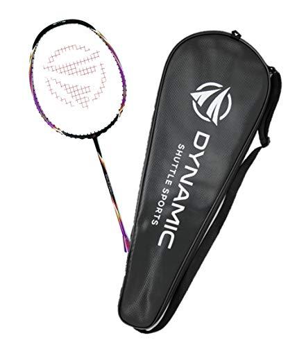 Titan G-Force 7 Professional Carbon Fiber Badminton Racquet, Lightweight Badminton Racket Including Cover (Purple)