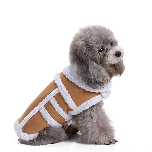 BWOGUE Small Dog Warm Winter Coat - Shearling Fleece Dog Jackets for Small to Medium Breeds Dog