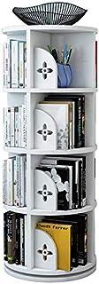 YZPTD Rotatation Boîte à bibliothèque Simple Simple Picture Livre Étagère Salon Salon Bibliothèque Accueil Space Space Éco...