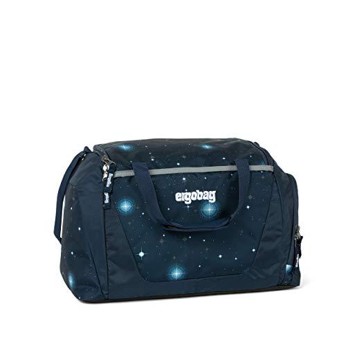 ergobag Sporttasche KoBärnikus Glow, Galaxy Glow Edition, wasserdichtes Seitenfach, Tragegriffe und Umhängegurt, 20 Liter, 500 g, Blaue Galaxie Glow