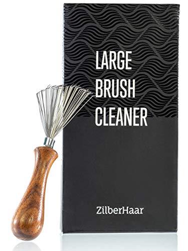 ZilberHaar - Limpiador de cepillos para barba y pelo - Herramienta de limpieza de cepillo natural hecho a mano - 4,3 pulgadas de largo y 1,9 pulgadas de ancho en el extremo del rastrillo