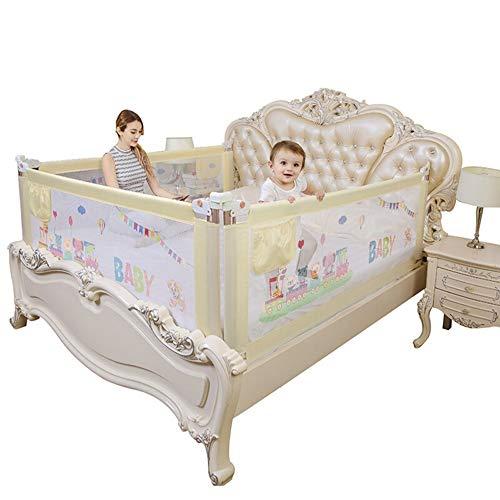 Barnsäng ledplan baby-säng-skenor krus tång baby droppar ledskena vertikal lyft glidskydd hand 1 st extra lång hög krustång (färg: beige, storlek: 150 cm)