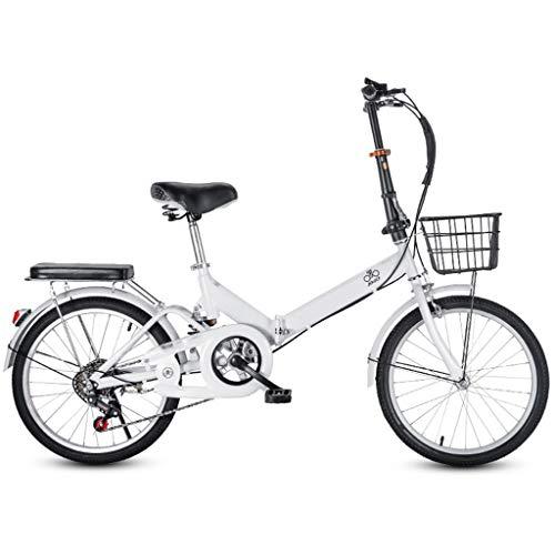 TYXTYX 20 Zoll Klapprad Faltrad Nabenschaltung Leichte 6 Gang Stoßdämpfung Geschwindigkeit Klappfahrrad Folding Bike, erwachsenes weibliches Faltrad