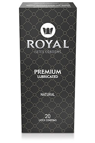 Royal Condoms - Ultra Thin, All Natural, Organic, Gluten Free, Nitrosamine Free, Cruelty Free Vegan, Latex Covered in Odor Free Water Based Premium Lube, 20 Count
