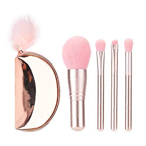Pinceau Maquillage 4Pcs Cosmétique Professionnel Kits pour Fond de Teint L'anticernes et Correcteur Ontouring,Blush,Lèvre,Creux de La Paupière,Sourcils,Ombreur