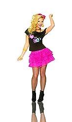 Hot Pink Ruffle Tutu Skirt by Smiffys