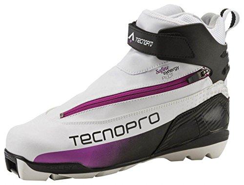 TECNOPRO Damen Safine Synergy Pilot Skilanglaufschuhe, weiß/Schwarz/pink, 6.5
