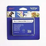 Brother Original P-touch Schriftband TZe-231S 12 mm, schwarz auf weiß (kompatibel u.a. mit Brother P-touch PT-H100LB/R, -H105, -E100/VP, -D200/BW/VP, -D210/VP) laminiert