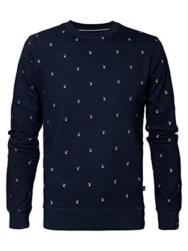 PETROL - Sweater R-Neck - Deep Capri