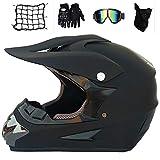 MRDEAR Fullface Motocross Helm mit Brille Handschuhe Maske Motorrad Netz, Adult Motorradhelm Cross...