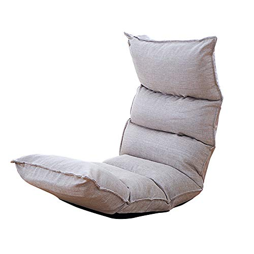 Feifei Chaise de Plancher Chaise de Jeu Pliable Chaise de Plancher réglable Fauteuil Paresseux canapé Balcon (Couleur : Gray)