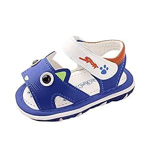 Sandalias de suelo suave para niños y niñas, zapatos de verano antideslizantes, zapatos de playa de dibujos animados, zapatos de bebé para niños, zapatos abiertos, sandalias de trekking, azul, 23