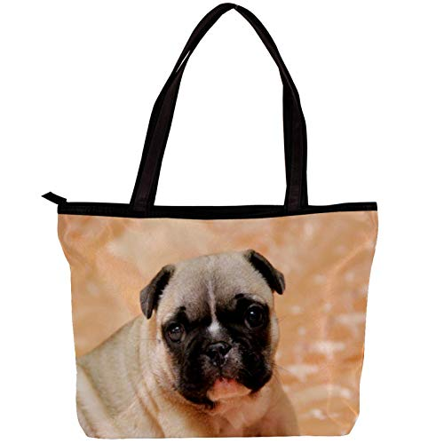 Woman Laptop Tote Bag USB Teacher Bag Large Work Bag Purse Fits Tablet Book Notebook Cute Animal Dog 11.8x4.1x15.4in