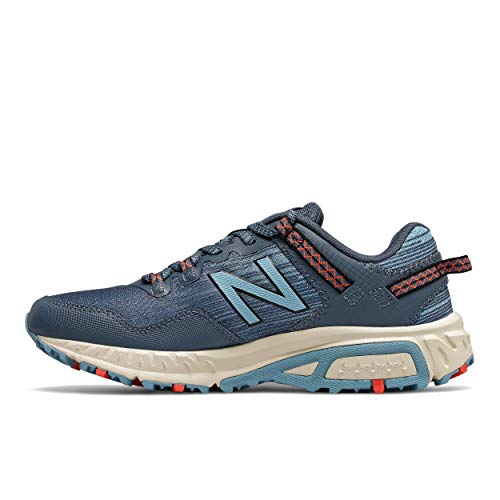 New Balance Women's 410 V6 Trail Running Shoe, Stone Blue/Wax Blue, 8 M US