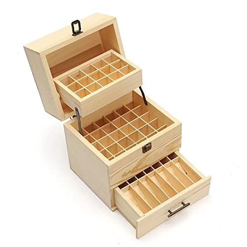 Caja De Almacenamiento De Aceite Esencial 59 tragamonedas esencial caja de transporte caja aromaterapia madera caja de almacenamiento caja de almacenamiento contenedor 3 capas Adecuado Para Colocar Ac