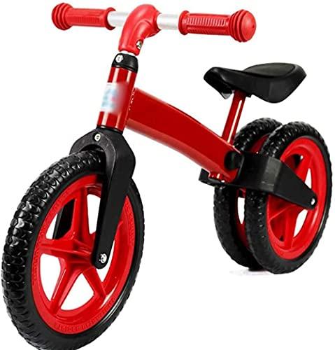 Bicicleta para niños de 2 años y más (12 pulgadas) una bicicleta infantil con un freno de pedal trasero azul rojo