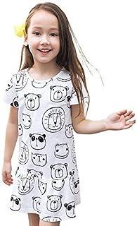 junliuTT 可愛い 子供服 子供ドレス ワンピース ギッズ服 女の子 カットソー サンドレス プリンセス 夏 半袖7-8/130|CDS7018 ドレスのみ、アクセサリーがない