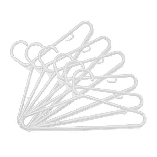 Kit 50 Cabides Plástico Infantil Tradicional - Branco