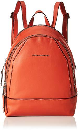 Piquadro Muse Rucksack 30 centimeters Orange (Arancio)