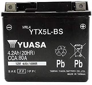 YTX5L-BS AGM 台湾ユアサ TAIWAN YUASA バイク用 バッテリー 互換 FTX5L-BS DTX5L-BS VTX5L-BS CTX5L-BS
