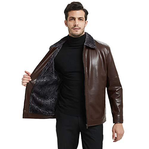 Heren Business Blazer Leren Jas Plus Size Dikker Winddicht Trench Jas Plus Fluweel Warm Bovenkleding Voor Man Zwart Bruin