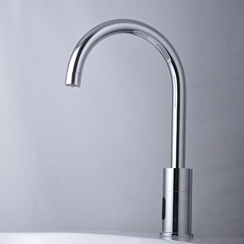 SHLONG Warm- und Kaltwasserhahn Becken Doppel Warm- und Kaltwasserhahn Frühling Kupfer verchromt Sanitr-Hardware