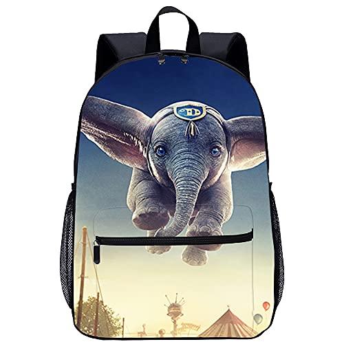 Mochila Infantil con 3D Mochilas Escolares Dumbo Adecuado para: estudiantes de primaria y secundaria, la mejor opción para viajes al aire libre Tamaño: 45x30x15 cm / 17 pulgadas Mochila Colegi