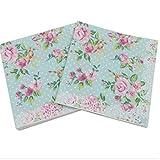 20 pc / 33 centimetri * 33 centimetri Caratteristica stampata Rose tovaglioli di carta per l'evento e decorazioni del partito del tessuto Decoupage
