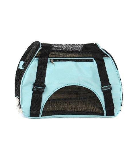 Souple, pliable Pet Carrier Sac fourre-tout pour Chiens Chats(46*24.5*33cm,bleu)