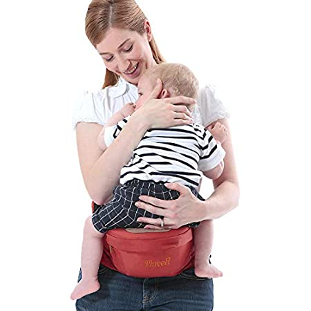 ThreeH Baby Hip Seat Belt Infant Waist Stool Strap Outdoor Toddler Seat Carrier BC10,Red