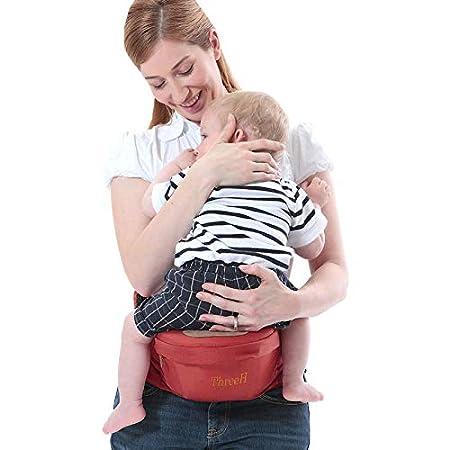 ThreeH Baby Hipseat h/üftsitz baby kleinkinder taille hocker babytrage r/ücken vorne BC10 Brown