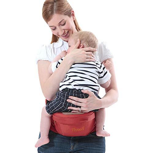 ThreeH recién nacido portador de bebé de cintura taburete Hipseat asiento de cadera cómodo BC10,Red