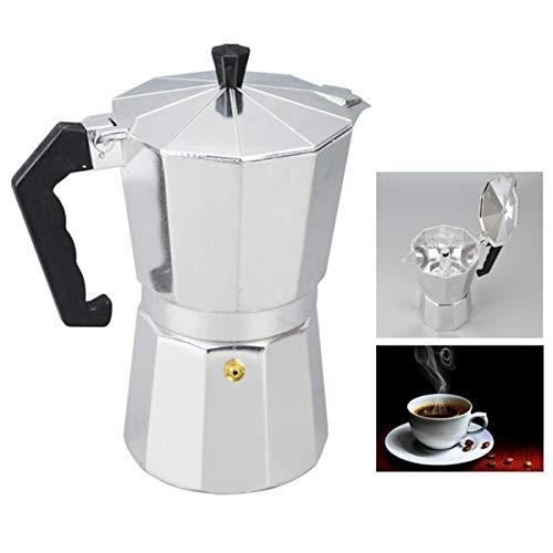 Stovetop Espresso Maker, Italian Espresso Coffee Maker, Espresso Maker Machine For Full Bodied Coffee(9-CUP)