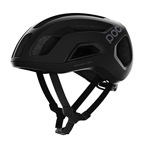 POC, Ventral Air Spin Bike Helmet for Road Cycling, Uranium Black Matt, Large