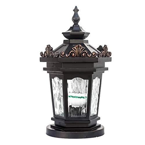 LMDH Extérieur en Verre Étanche Mur Lumière Paysage Lampe Jardin Villa Post Lampe Antique en Aluminium Étanche Colonne Lumière Rue Post Light pour E27 Décoration (Size : Style B)
