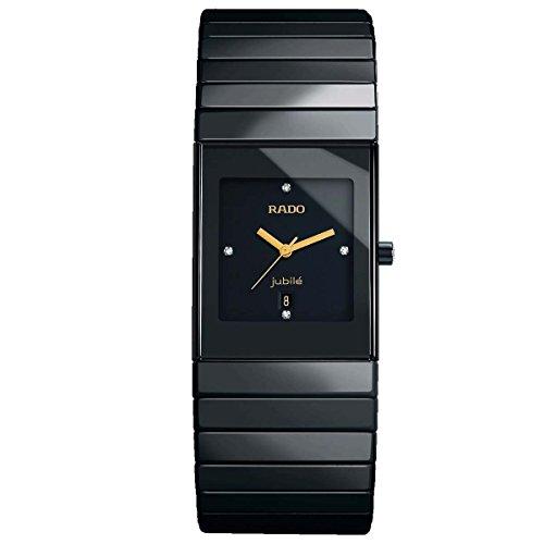Rado Ceramica Damen-Armbanduhr Diamant Armband Keramik Schwarz Quarz R21347742